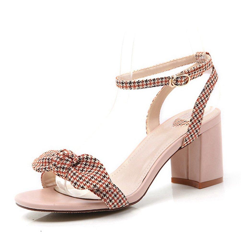 Sandales High Heels Ouvert Mode Femmes, Sandale Talons High Sandales Carrés Été Bout Rond Ouvert Nœud Chaussures Rose 6fe85ce - reprogrammed.space