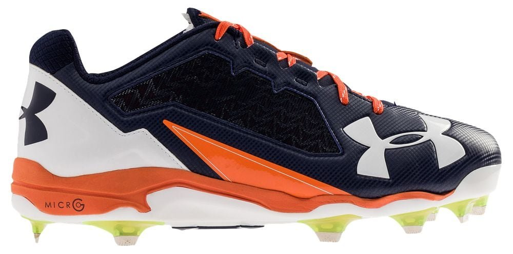 [アンダーアーマー] Under Armour Deception Low DT メンズ ベースボール [並行輸入品] B071VTDR6X US09.5|Navy/Orange/White Navy/Orange/White US09.5