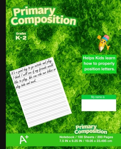 Primary Composition Notebook: Kids school supplies, Green Marble Cover, Ruled paper, 100 Sheets, 200 Pages,  Primary Journal K-2nd Grades, 7.5 in x ... 19.05 x 23.495 cm,Durable softcover notebook ebook