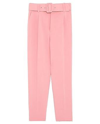e05d2be8 Zara Women's Trousers Pink Pink - Pink - Small: Amazon.co.uk: Clothing