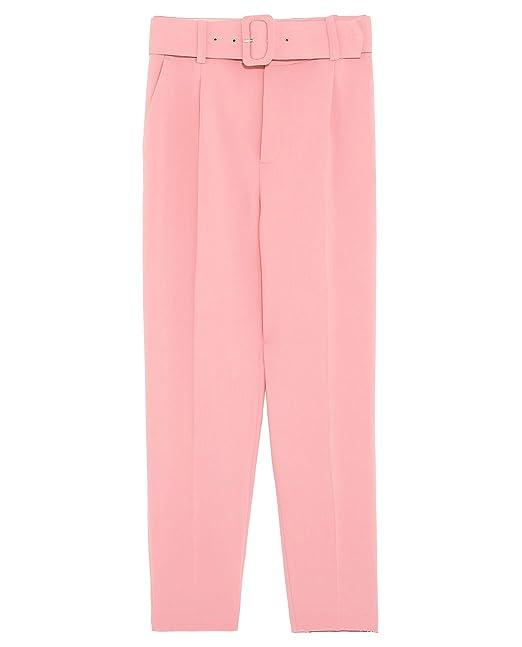 Zara - Pantalón - para Mujer Rosa S: Amazon.es: Ropa y ...