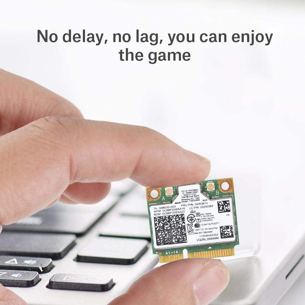 867M Dual-Band 2.4//5G Bluetooth4.0 Wifi Network Card Chip for Intel 7260HWM,Mini Network Adapter for Lenovo//IBM//ThinkPad 04W3814 Tangxi Laptop Network Card