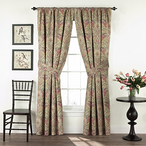 WAVERLY Curtain Drapes for Living Room - Swept Away 84