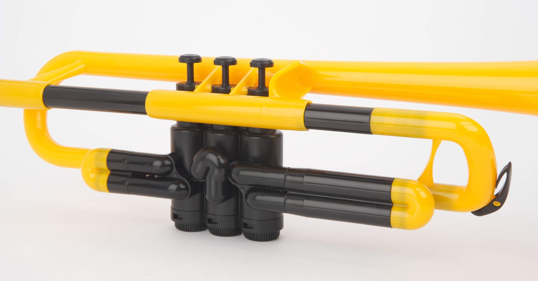 pBone Jiggs pTrumpet Plastic Trumpet w/Gig Bag and 3C and 5C Mouthpieces, Yellow, PTRUMPET1Y) by pBone (Image #7)