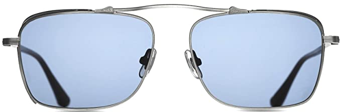 92d5ffec0ed Image Unavailable. Image not available for. Color  Matsuda M3047 Antique  Silver Aviator Sunglasses