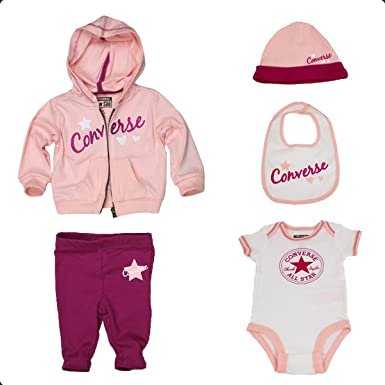 d0a892812343 Converse Baby Girls 0-24m 5 PC Boxed Gift Set Clothing