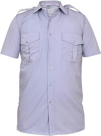 Hombres Manga Corta Guardia de Seguridad Uniforme Camisa: Amazon.es: Ropa y accesorios
