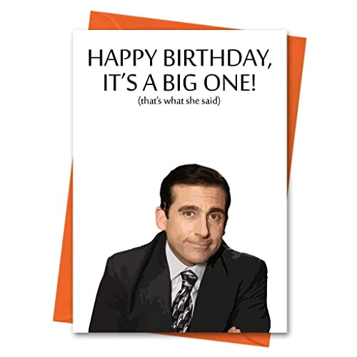 Funny Birthday Card The Office US Michael Scott