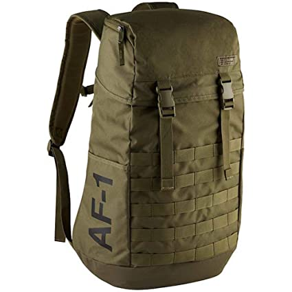 111eb8f04ead Amazon.com  Nike AF1 Air Force 1 One Backpack Medium Olive Black  Sports    Outdoors