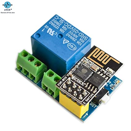 eHUB 5V WiFi Relay Module v4 0 for ESP8266 ESP01S/ESP01 Internet of Things  IOT Smart Home Remote Control Switch (Relay Module with ESP01S)
