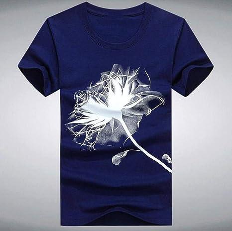 WEFAAS Camisetas 5XL Hombres O-Cuello Camiseta De Moda De Verano ...