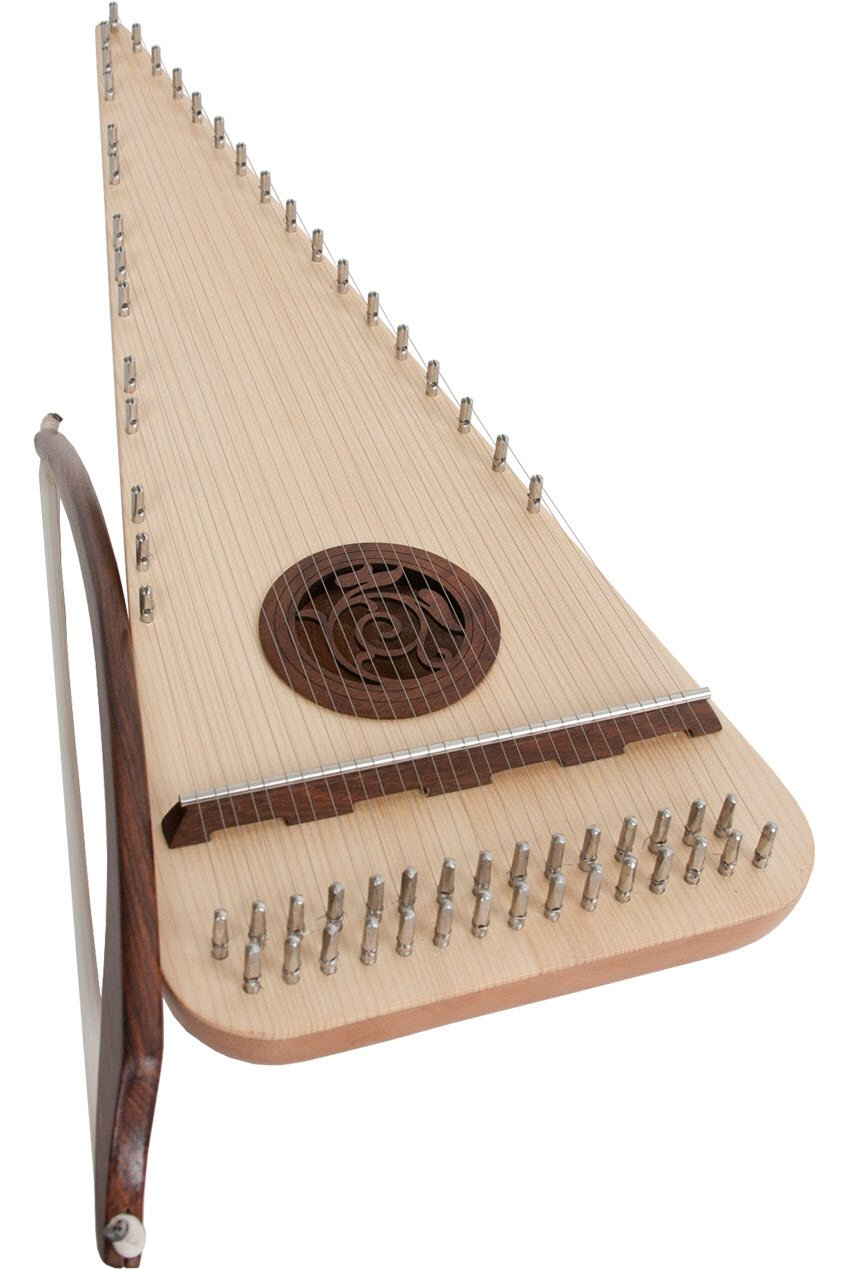 Roosebeck Alto Rounded Psaltery with 30 Strings for Right Handed Players