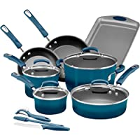 Rachael Ray Brights 14-pc. Nonstick Cookware Set (Marine Blue) + $10 Kohls Cash