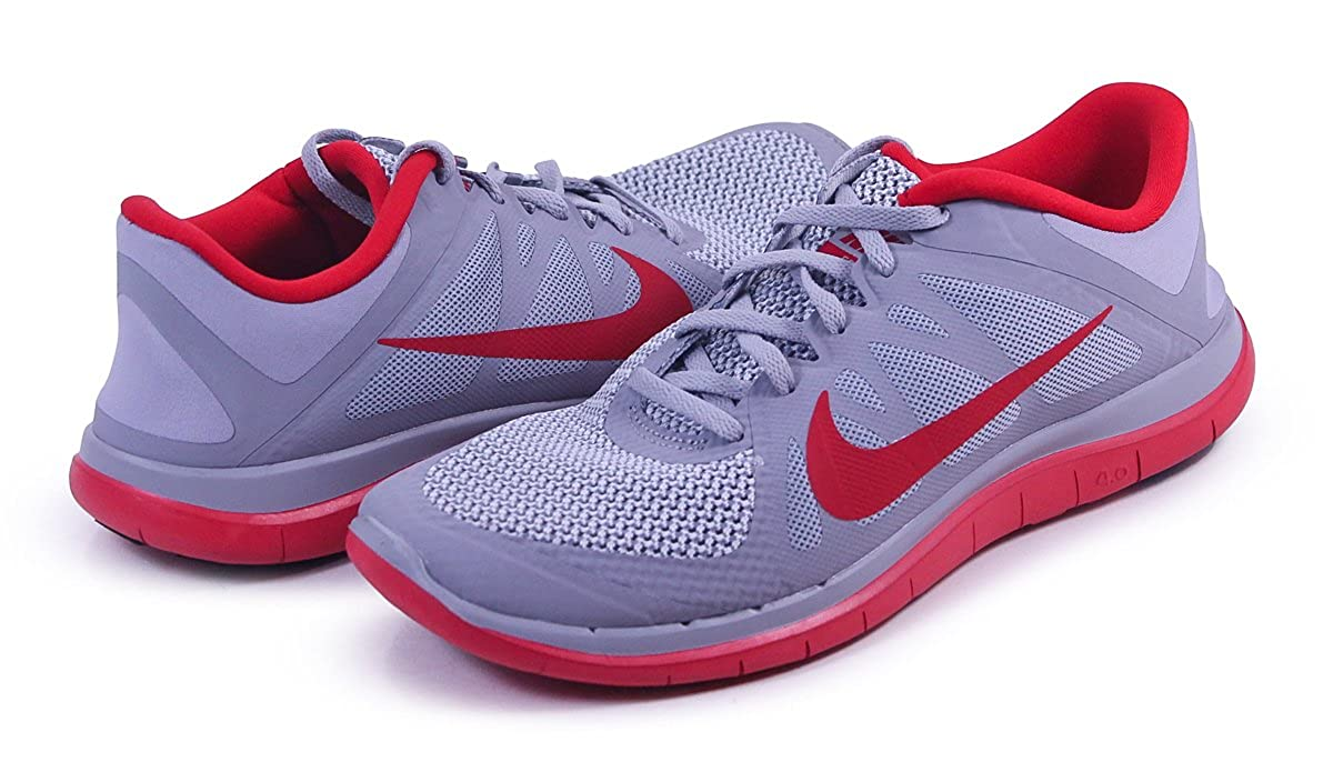 meet a5b33 7683c Amazon.com   Nike Free 4.0 V4 Men sRunning Shoes Wolf Grey University  Red Pure Platinum 12 US   Fashion Sneakers