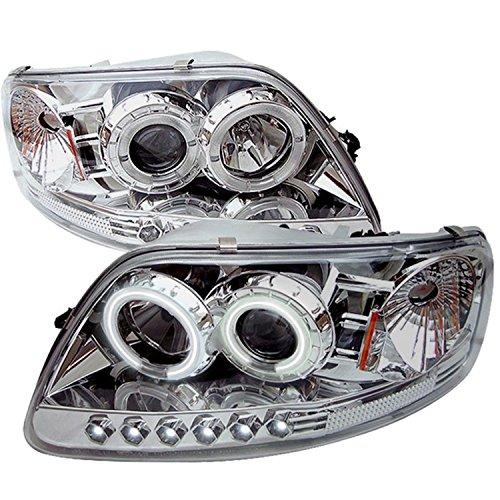 Spyder Auto PRO-YD-FF15097-1P-CCFL-C Ford F150/Expedition Chrome CCFL LED - Ford Expedition Chrome Headlights