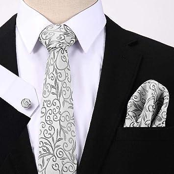 HYCZJH Lunares de Seda para Hombre Corbatas Corbata Conjunto ...