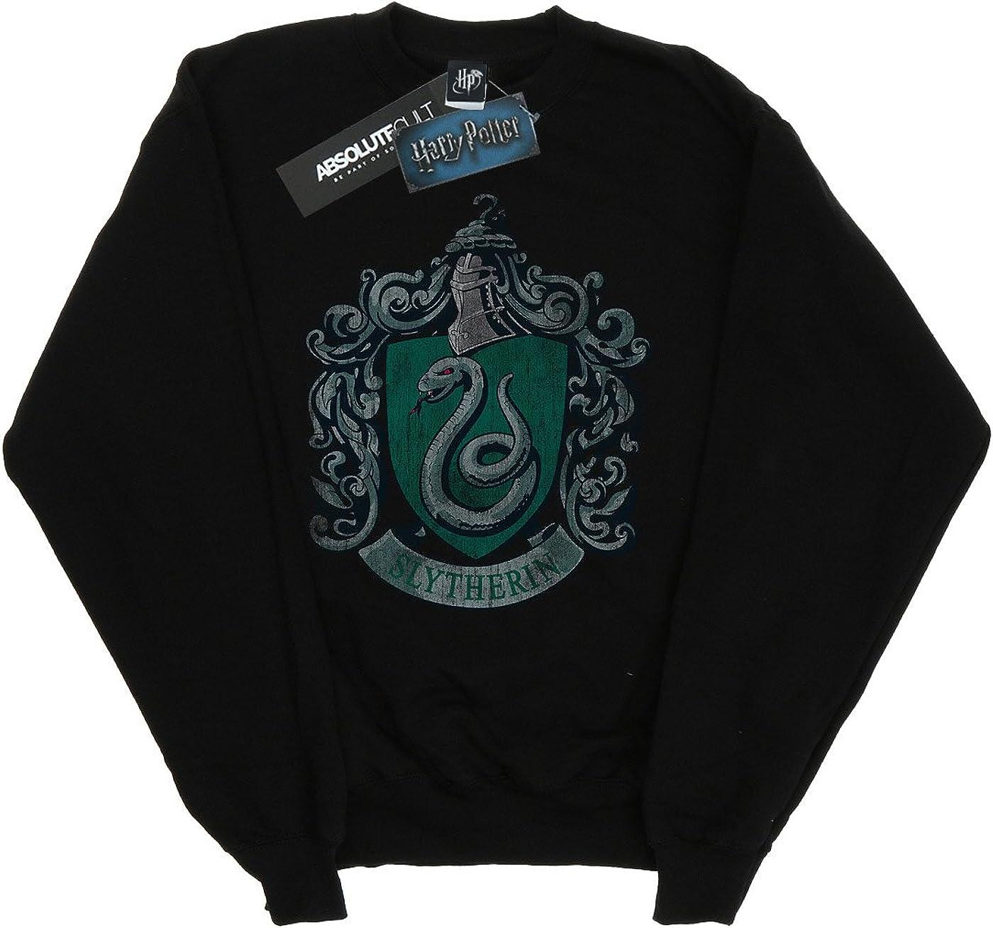 HARRY POTTER ni/ñas Slytherin Distressed Crest Camisa De Entrenamiento 9-11 Years Gris Sport