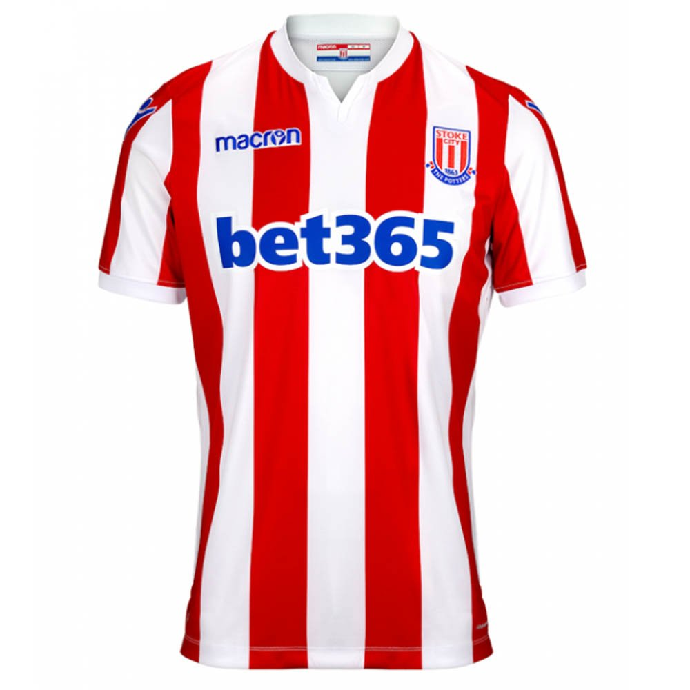 Macron 2018-2019 Stoke City Home Football Soccer T-Shirt Trikot