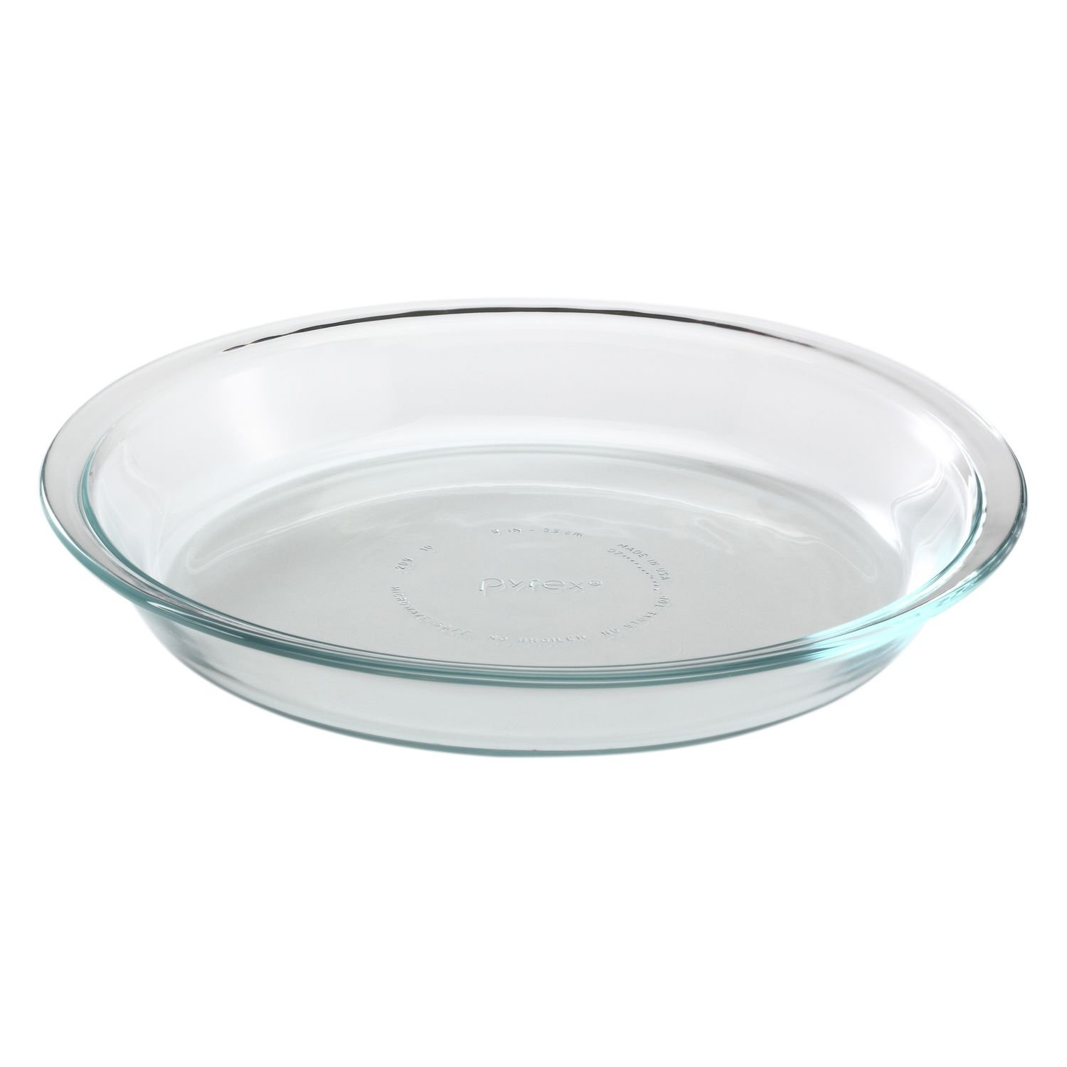 Pyrex Glass Bakeware Pie Plate 9'' x 1.2'' (Pack of 12)