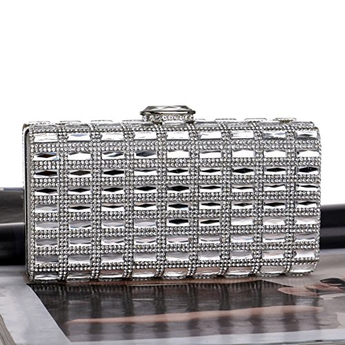 Clutches Evening Women's Party Bridal Bags Crystal Women And Silvery Wedding For qUUtz5
