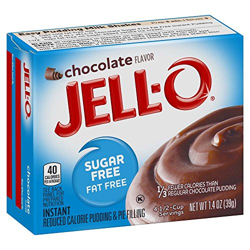 Jell-O Sugar-Free Chocolate Instant Pudding Mix 1.4 Ounce Box (Pack of 6) Low Fat Chocolate Pudding