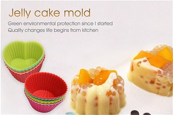 24-pcs silicona Cupcake Moldes moldes para magdalenas Pan Cake Moldes Caes, reutilizable y antiadherente calor Resisitant hornear tazas Cupcake para horno ...