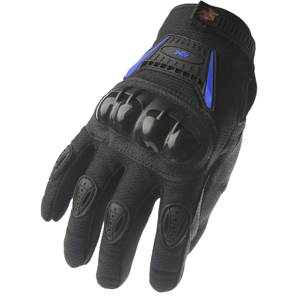 S, black//green Street Bike Full Finger Motorcycle Gloves 09