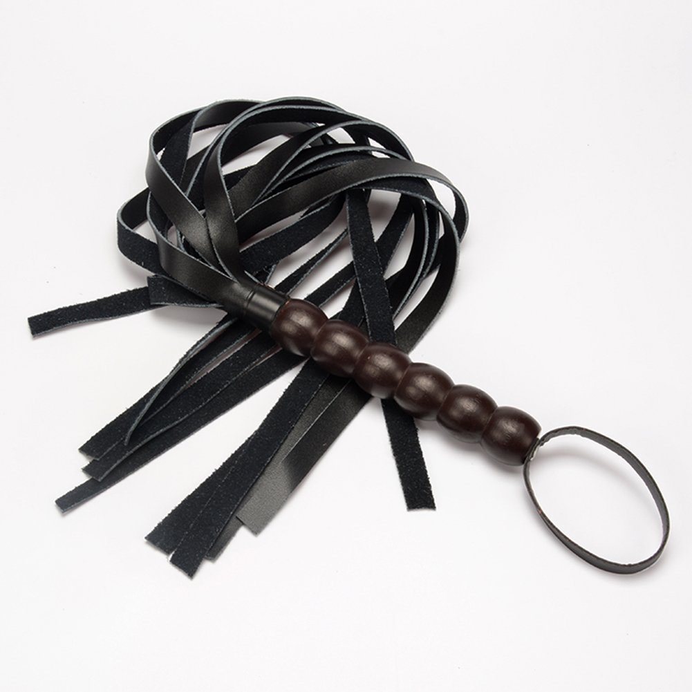 Shanhai Mini Leather Floggers and Whips Sexy Toys for Roll Play for Couple Black by BFY