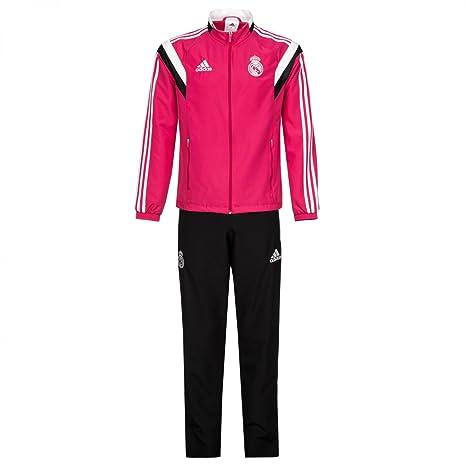 2014-2015 Real Madrid Adidas Presentation Tracksuit (Pink)