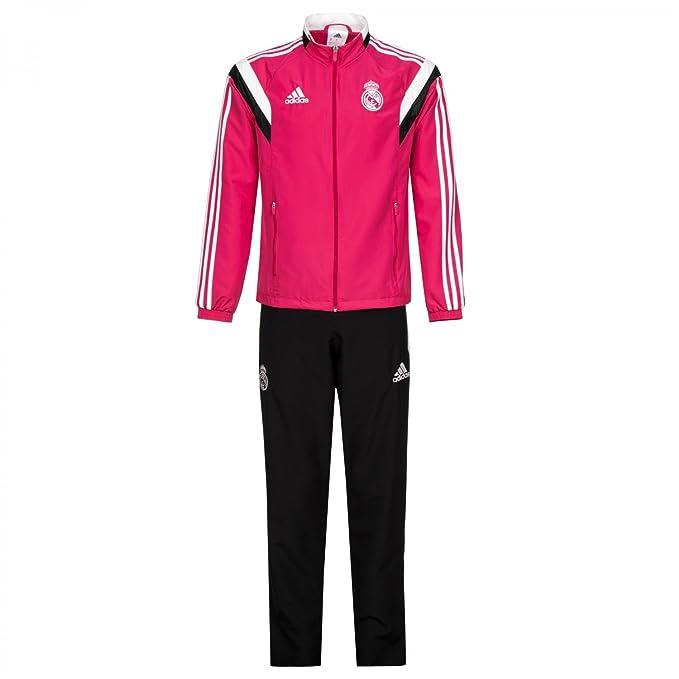 Adidas Chándal Real Madrid Presentación -Rosa- 2014-15  Amazon.es  Deportes  y aire libre f51a338e78efe