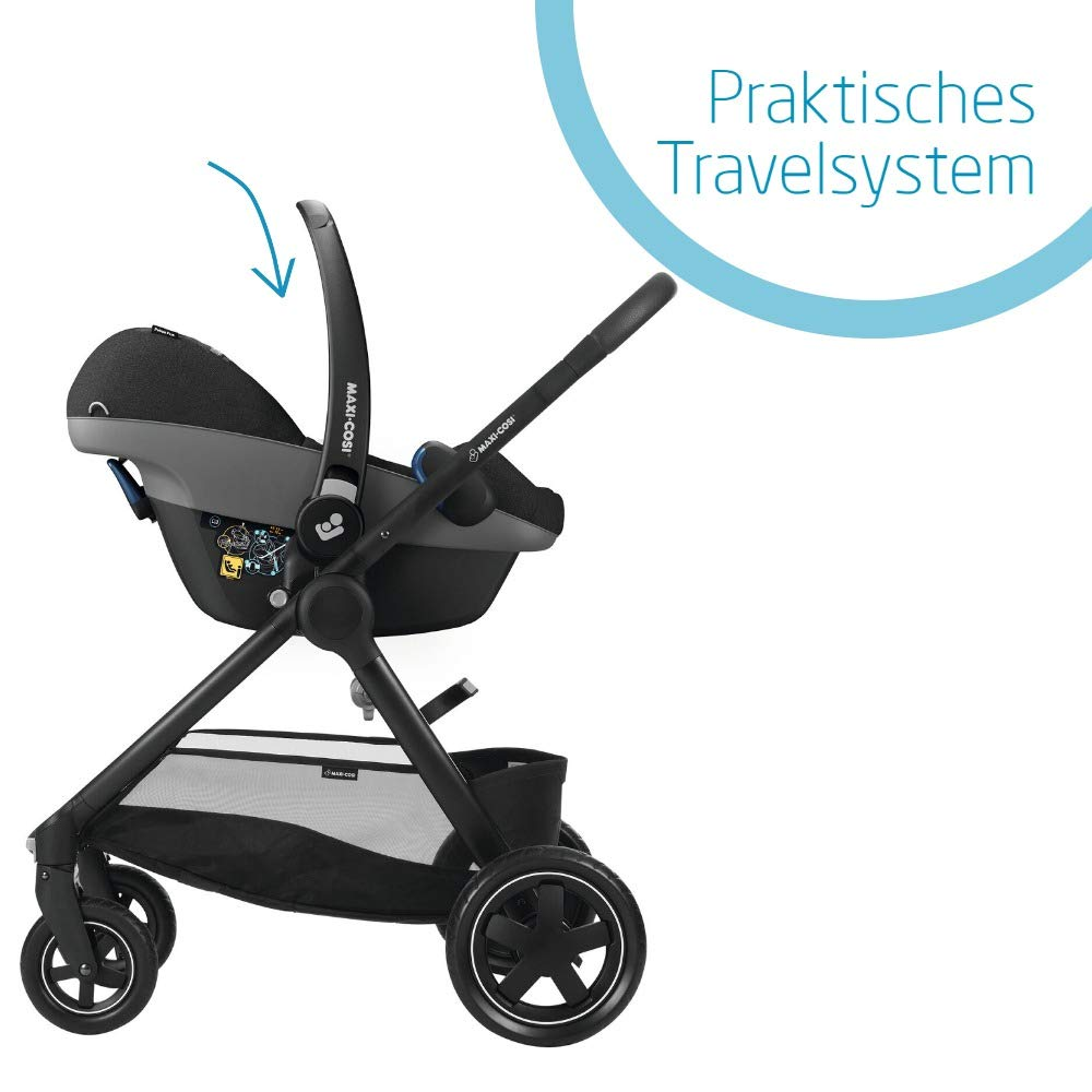 passend f/ür FamilyFix One Basisstation grey nutzbar ab der Geburt bis ca 0-13 kg Maxi-Cosi Pebble Plus Babyschale 12 Monate sicherer Gruppe 0+ i-Size Kindersitz