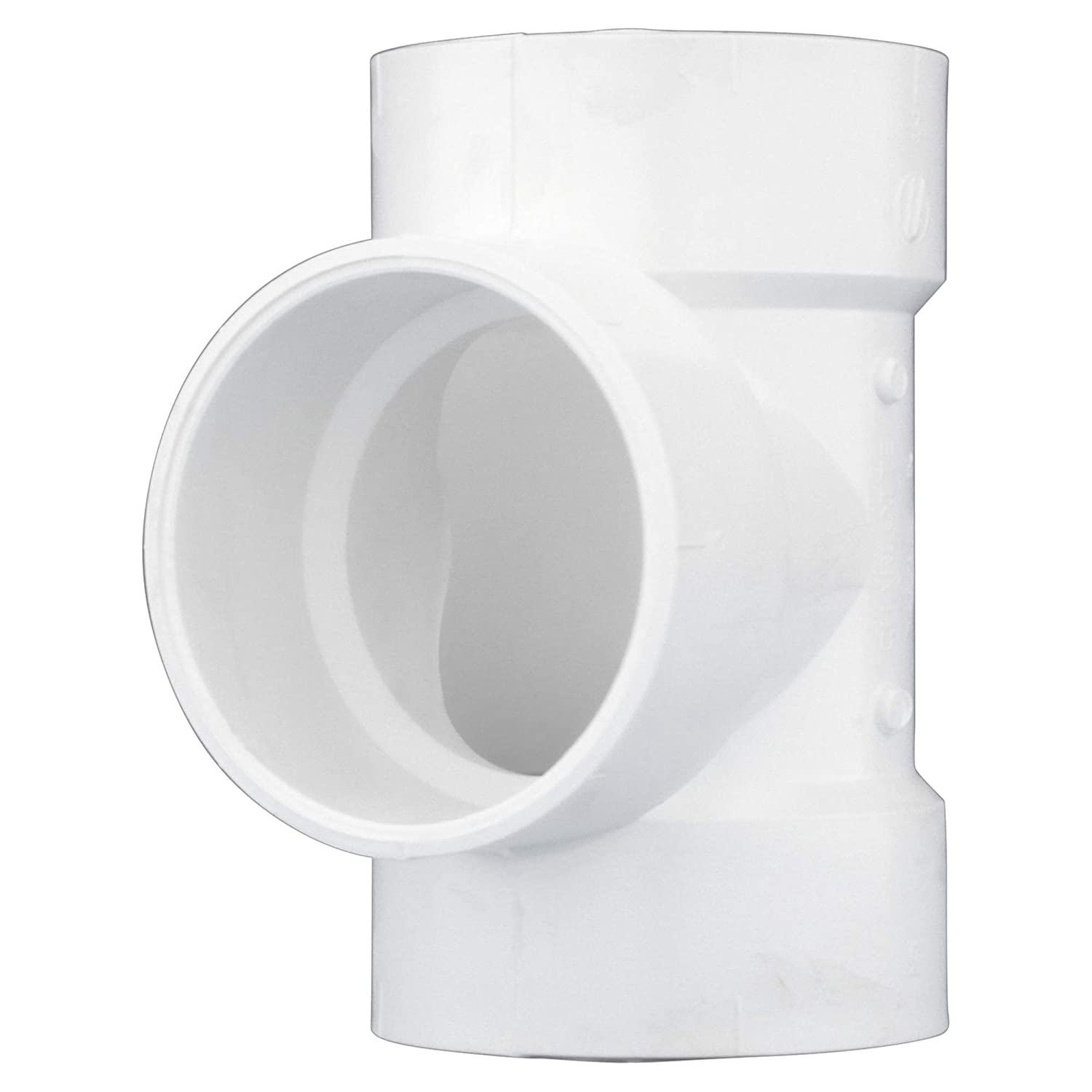 Schedule 40 PVC DWV Durable and High Tensile for Home or Industrial Use Drain, Waste and Vent Hub x Hub Charlotte Pipe 1-1//2 Vent Tee Pipe Fitting - Easy to Install 25 Unit Box