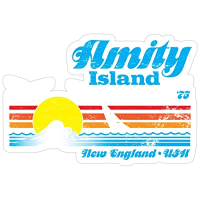 B. Strange Mall Amity Island Stickers (3 Pcs/Pack): Kitchen & Dining