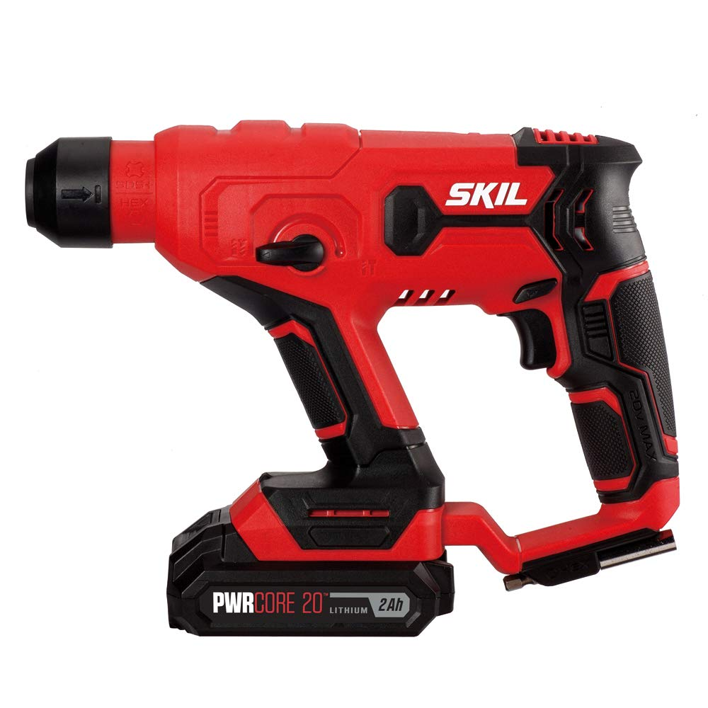 SKIL 20V SDS-plus Rotary Hammer, Includes 2.0Ah Pwrcore 20 Lithium Battery & Charger - RH170202 by Skil (Image #7)