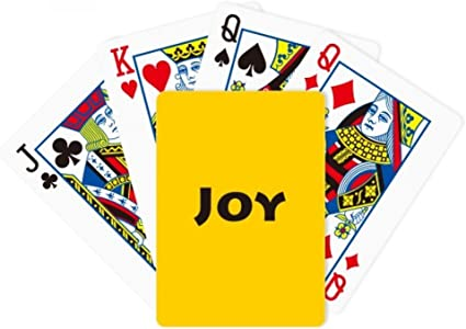 Amazon Com Diythinker Joy Word Inspirational Quote Sayings Poker Playing Magic Card Fun Board Game Sports Outdoors