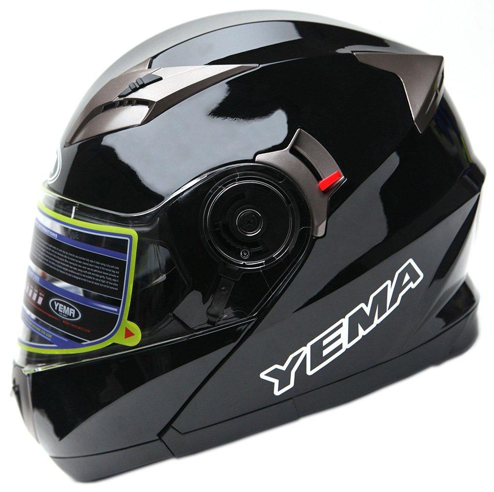 c18ccd54 Motorcycle Modular Full Face Helmet DOT Approved - YEMA YM-925 Motorbike  Moped Street Bike Racing Crash Helmet with Sun for