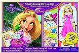 Bendon Disney Tangled Storybook Dress Up Magnetic Wooden Doll Set, 50-Piece