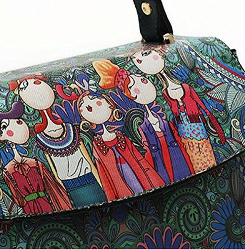 Invierno AJLBT De Diagonal Bolso Green La Impreso El Manera Señoras El Otoño Verano Bolso Y El Paquete La Coreana Primavera De rErqPwxdH