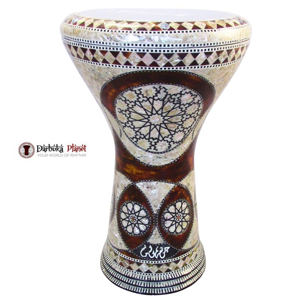 Gawharet El Fan 17'' Mother of Pearl Darbuka''Scorpius'' Darbuka Drum Percussion