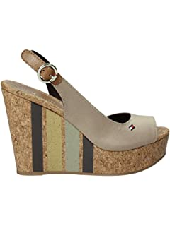 Tommy Hilfiger FW0FW02794 068 Sandalwood Ticked with Dark Beige Wedge  Average New Spring… 0a697b022c5