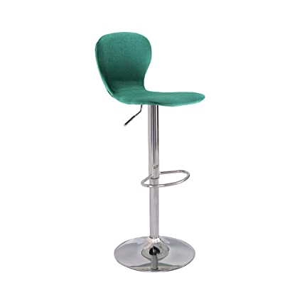 Excellent Swivel Stool Chair With Back In Linen Spruce Seat And Chrome Stand For Indoor Home Bar Kitchen Ncnpc Chair Design For Home Ncnpcorg
