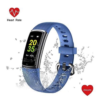 Abeyete Pulsera de Actividad Reloj Inteligente para Hombre y Mujer IP68 Impermeable con 14 Modos de Deportivo con Pulsómetro Sueño Podómetro Calorías ...