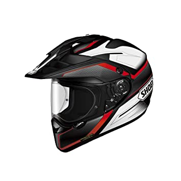 Motocicleta Shoei Casco de Hornet Adv Seeker TC1 Negro Blanco Rojo L UK