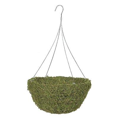 "Gardman R476 Sphagnum Moss Hanging Basket with 4-Leg Galvanized Wire Hanger, 18"" Diameter: Garden & Outdoor"
