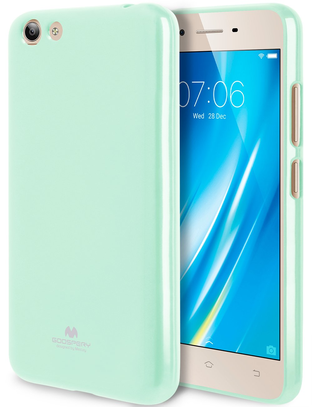 the best attitude 57996 a7c01 GOOSPERY Marlang Marlang Vivo Y53 Case - Mint Green, Free Screen Protector  [Slim Fit] TPU Case [Flexible] Pearl Jelly [Protection] Bumper Cover for ...