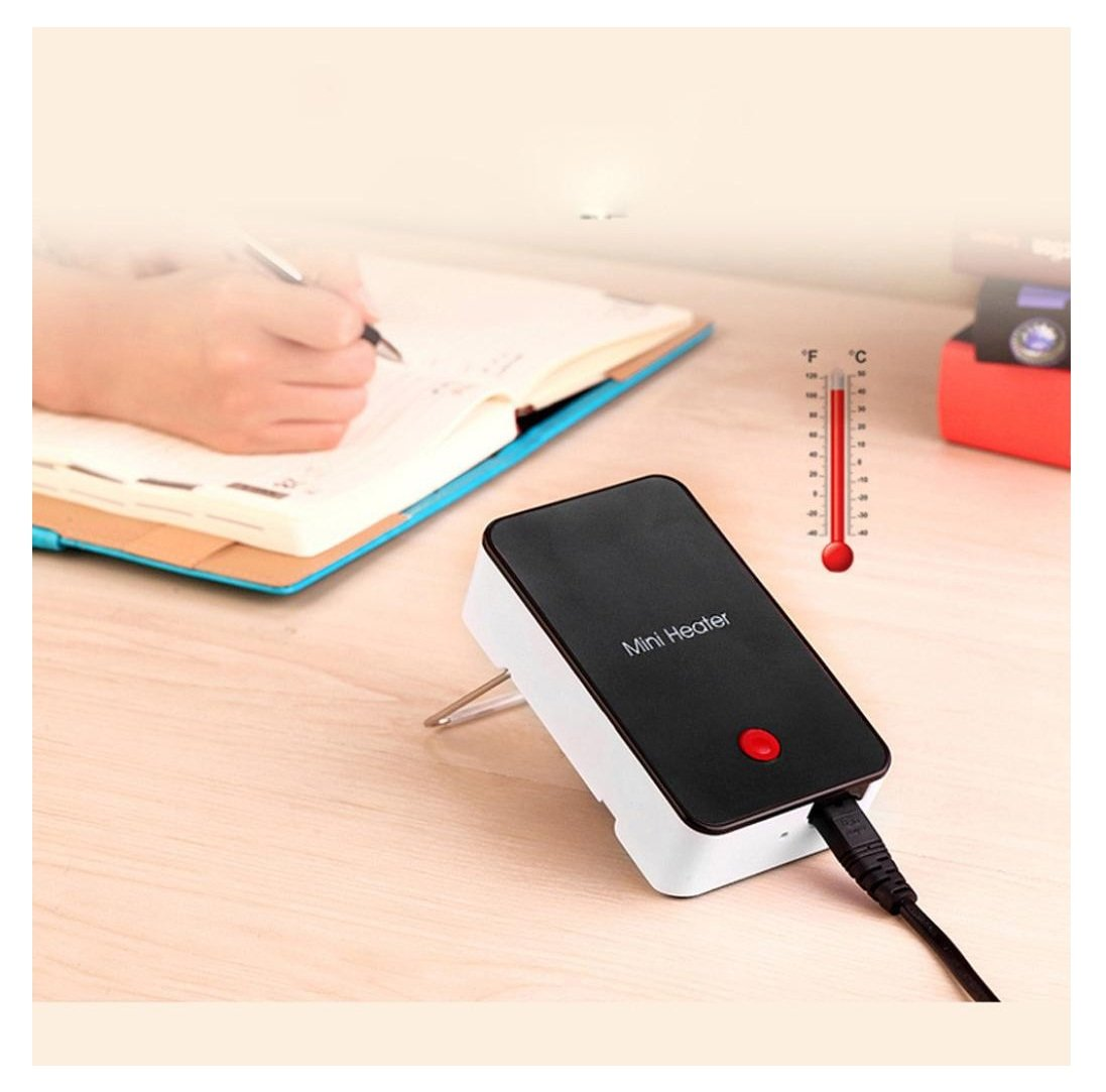 Personal Mini Heater,Rambling Electric Portable Heater Thermostat Fan Perfect For Personal Use in the Office, Home,Bedroom (BK)
