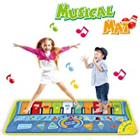 Anpro Alfombra Piano para Niños,Alfombra Teclado Musical, Alfombra de Baile Táctil, Juguete para Niños, Regalo de…