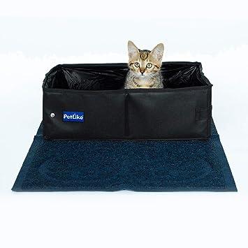 Amazon.com: PetLike - Caja de arena de viaje para gatos ...