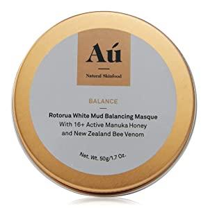 Balance White Mud Balancing Mask by Au Natural Skinfood | Rotorua Exfoliating Mask with 16+ Manuka Honey | Certified | Food For Your Skin | All Skin Types | Made in New Zealand | 1.7 oz