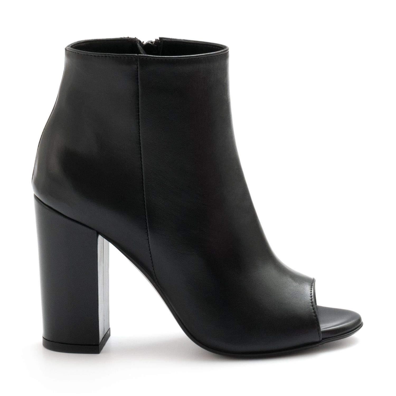 Noir SILVIA ROSSINI - noir Leather Open Toe Ankle bottes - 1810 617NAPPA noir